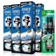 DARLIE黑人 超白牙膏套装(竹炭深洁120g*4+炭丝深洁牙刷*2)