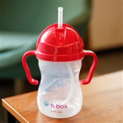 B.box婴幼儿重力球吸管杯 防漏 240ml (6个月以上) 西瓜红