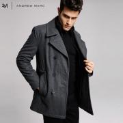 Andrew Marc 安德鲁·马克 男士立领中长款呢大衣