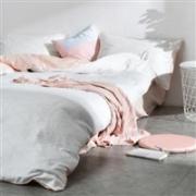 网易严选:简约知性全棉四件套 胭脂粉  1.5米/1.8米