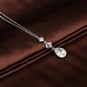SWAROVSKI 施华洛世奇 Eveline  白色方形水滴形水晶项链 350元包邮(用券)