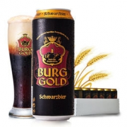 BURGGOLD 金城堡 小麦啤/黑啤 500ml*24听 *2件