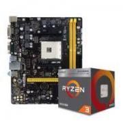 AMD 锐龙 Ryzen 3 2200G APU处理器+映泰 A320MD PRO主板