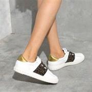 ASH 艾熙 女士双色钉珠休闲运动鞋