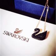 SWAROVSKI 施华洛世奇 黑天鹅项链 镀玫瑰金色项链小号 5204133