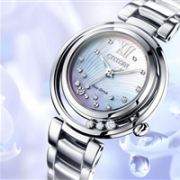 CITIZEN 西铁城 Sunrise 花语风吟系列 EM0320-59D 女士光动能腕表