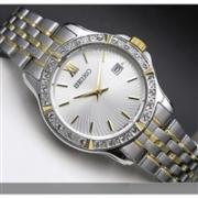 Seiko 精工 Crystal Dress 系列 SUR732 女士镀金时装手表