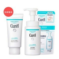 Curel 珂润保湿洁颜套装(洁颜泡沫 150ml+洁面泡沫替换装 130ml+保湿卸妆啫喱 130g)
