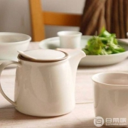 KINTO Brim系列 陶瓷茶壶 750ml 带滤网 Prime会员免费直邮含税