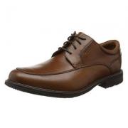 直降¥190,40码 Rockport 乐步 Essential Details II 男士真皮防水皮鞋 V81485 棕色