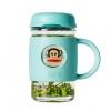 大嘴猴(Paul Frank)    高硼硅带盖玻璃杯420ml 2色 送马克杯+杯刷¥59