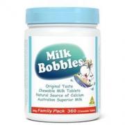 Milk Bobbles 博贝斯 澳洲原装进口 高钙牛奶咀嚼奶片 360粒 原味优惠装