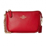 Coach 蔻驰 Polished Pebble Nolita Wristlet 15 女士单肩包 $49.99
