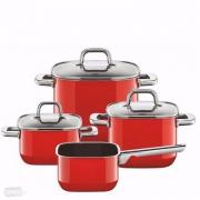 Silit 喜力特 Quadro系列 希拉钢 红色汤锅4件套