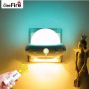 Onefire 万火 红外遥控飞碟小夜灯 可调光 4色