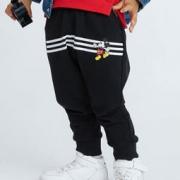 Disney baby 迪士尼宝宝  童装 婴幼儿男童针织时尚长裤迪斯尼宝宝裤*3