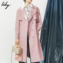 Lily 2020春夏款 女士收腰宽松落肩中长款风衣