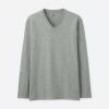优衣库 SUPIMA COTTON 男士V领T恤(长袖)59元,日常99元
