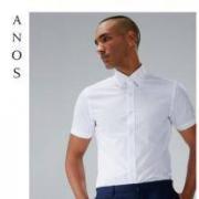 ANOS夏季男士白衬衫短袖