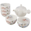 ALE-NET 淡墨樱花 美浓烧 小茶壶茶具套组 5客 茶具组合190.35元