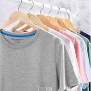 EXLUX 男士 100%精梳棉 纯色短袖T恤