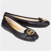 MICHAEL Michael Kors Fulton Moc女士时尚休闲平底鞋 黑色