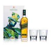 JOHNNIE WALKER 尊尼获加 绿牌 15年调配麦芽苏格兰威士忌礼盒 750ml 限量版礼盒*2件