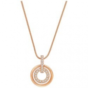 SWAROVSKI 施华洛世奇 681251 镀白金色镶水晶石双环项链吊坠¥325.00 3.3折 比上一次爆料降低 ¥40