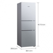 SIEMENS 西门子 KG28FA29EC 274升 双动态冷却 LED显示三门冰箱 拉丝银
