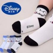 Disney 迪士尼 纯棉薄款短袜4双