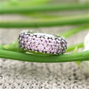 Pandora 潘多拉 791359PCZ 925银粉紫色锆石灵感间隔珠