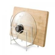 瑞斯丽 不锈钢锅盖架厨房砧板架 16*11.8*18.8cm