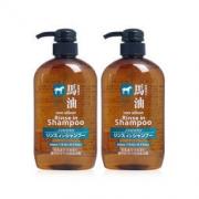 熊野油脂 无硅马油洗发水护发素二合一 2瓶装67+7.9元含税