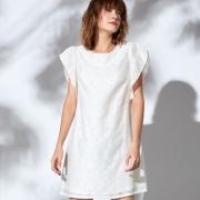 EST+II艺诗 韩版短袖直筒气质女连衣裙 3169元包邮 (已降100元 )