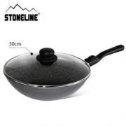 STONELINE 30cm 阿尔卑斯原石贴面 中式炒锅