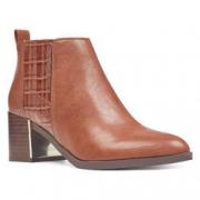 限尺码: Nine West 玖熙 Westlyn 女士高跟短靴  折$27.99