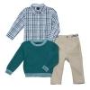 Nautica 诺帝卡 男童3件套(毛衣外套+衬衫+长裤) 18个月  Prime会员凑单免费直邮到手¥90