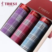 TRiES 才子 男士纯棉内裤3条装¥29.9起包邮(需领¥20优惠券)