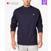 Champion冠军卫衣男圆领套头运动长袖新款纯色外套Macys174012259