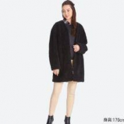 UNIQLO 优衣库 女士摇粒绒长款大衣 400198