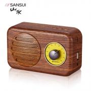 山水(SHANSHUI)    T1 木纹 无线蓝牙音箱