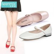 Teenmix 天美意 女士牛皮玛丽珍单鞋 17067AQ7 3色