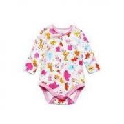 oissie 奥伊西 0-2岁宝宝小动物印花长袖包屁衣