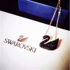 SWAROVSKI 施华洛世奇 黑天鹅项链 镀玫瑰金色项链小号 5204133码后特价$56.99,约360元