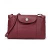 LONGCHAMP 珑骧 Le Pliage Cuir 女士系列红色羊皮单肩斜挎包1017元包邮(双重优惠)