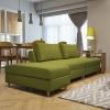 择木宜居 沙发实木布艺沙发组合 小户型沙发 北欧沙发床 绿色组合1519.23元
