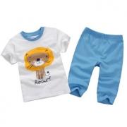 Minizone 儿童夏季短袖T恤七分裤套装1-5岁