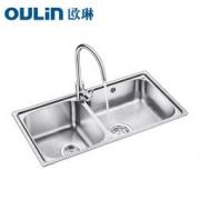 OULIN 欧琳 OLWG83460 不锈钢水槽 配精铜龙头套餐