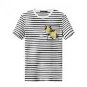 太平鸟 纯棉男士条纹T恤