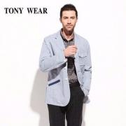 Tommy Hilfiger制造商,TONY WEAR 汤尼威尔 男士亚麻棉休闲西服外套